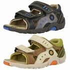 Boys Spot Lamp By Clarks Leather Sandals With An Open Toe Front