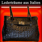 Strap Bag With Crocodile Embossing - Leather Dream of Italy / Women's / S005