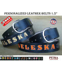 Black Custom Leather Belts - Personalized Western Belt - Mens Leather Belt - USA