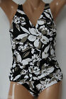 *NEW INC International Concepts Black Multicolored Shirred Swimsuit 10 12 14 20