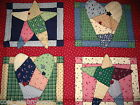 Patchwork flower heart pillow block cotton quilting fabric *Choose design & size