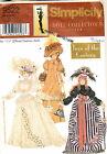 """SIMPLICITY DOLL COLLECTORS CLUB 11 1/2"""" FASHION DOLL SEWING PATTERN - CHOOSE 1"""