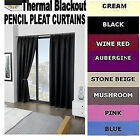 BLACKOUT THERMAL CURTAINS Pencil Pleat, supersoft unique material