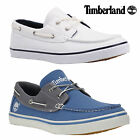 Timberland Newmarket Oxford Canvas Boat Shoes White Various Sizes