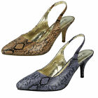 *SALE* LADIES ANNE MICHELLE POINTED TOE SLING BACK COURT SHOES L2216