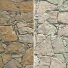 NEW AS CREATION COTTAGE STONE WALL PATTERN BRICK EMBOSSED NON WOVEN WALLPAPER