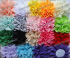 """Wholesale Chiffon Fabric cabbage corsage flower bow Appliques Sewing Wedding 4"""""""