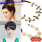 British Olive Leaves Headband Ring Hair Band Wrap Forehead Round Chain Accessory