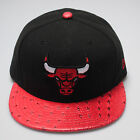 New Era 59fifty Chicago Bulls Reptile Mix Black Red Fitted Flat Peak Hat Cap
