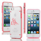 For Apple iPhone 5 5s 6/6 Plus Clear Hard TPU Case Cover Barrel Racing Cowgirl
