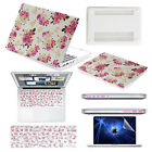 """4IN1 Floral Laptop Case+Keyboard+Screen Cover+Plug for Macbook Air/Pro 11""""13""""15"""""""