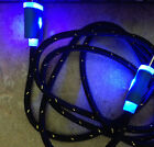 FLASH LED BRAIDED LIGHT Data Cable charger FOR Apple iPhone 8 7 6 5 4s micro usb