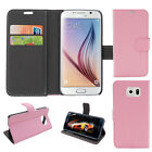 Magnetic Card Holder PU Leather Wallet Stand Case Cover For Samsung Galaxy S6 R4