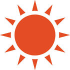 LARGE Sun Decal Vinyl Sunshine Sticker for car, tablet wall, window FREE S&H!