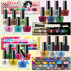 6 x NAIL POLISH VARNISH SET 6 DIFFERENT COLOURS BRIGHT PASTEL PEARL GLITTER