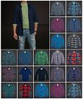 New Hollister By Abercrombie A&F Men Hollywood Beach Flannel Plaid Shirt Size