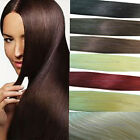 "24""-30"" Indian Remy Straight Real Clip in Human Hair Extensions 120g 10-Colour"