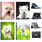West Highland Terrier Westie Dog Folio Cover Leather Case For Apple iPad Tablet