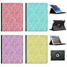 Floral Wallpaper Design Folio Cover Leather Case For Apple iPad