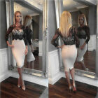 LADY SEXY LACE HOT BODYCON PARTY DRESS COCKTAIL SLIM EVENING Cool DRESS