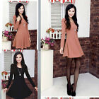 2 Colors Women Ladies Sexy Long Sleeve Casual Mini Tunic Party Skirt Dress