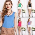 HOT Fashion Womens Summer Casual Chiffon Vest Tops Tank Sleeveless Shirt Blouse