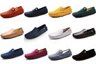 New Mens leather suede slip on loafers moccasin booties causal shoes