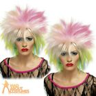 80s Attitude Wig Multi Coloured Cutie Rock Punk Wild Child Womens Fancy Dress