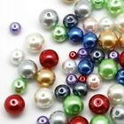 50/140/220Pcs New Glass Pearl Round Spacer Beads 4mm/6mm/8mm 11Colors
