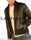 Genuine LEATHER jacket plain CLASSIC STYLE