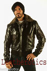 Mens LEATHER BOMBER FLIGHT JACKET TOP AVIATOR FUR COLLAR 36 38 40 42 44 46
