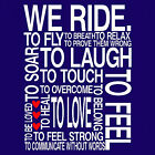 WE RIDE - UNISEX  & LADYFIT T-SHIRT (sml to 5xl)