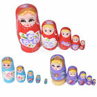1 Set 5pcs Dolls Wooden Russian Nesting Babushka Matryoshka Hand Painted Gifts