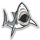 2 x 10cm Great White Shark Vinyl Decal Sticker Laptop Dive Scuba Diver Fun #5540