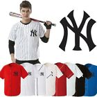 NewYork NY Yankees Baseball Stripe Open Tshirts sports wear Jersey shirt Top AC
