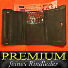 Key case with 6 Hooks and 2 Note compartments of finest Cattle leather / 49002
