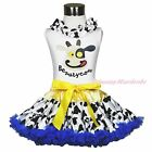 White Top Shirt Beauty Milk Cow Cowgirl Dairy Cattle Skirt Girl Clothing 1-8Year