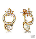 Special VALENTINE Gift Yellow Gold Created Diamond Small Stud Earrings CA4GM125