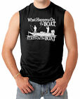 What Happens On The Boat, Stays On The Boat Men's SLEEVELESS T-shirt