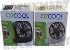 """O2 COOL Portable Personal 5"""" Fan 2 Speed Black / White RM3003"""