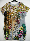 STUNNING CAP SLEEVE ANIMAL PRINT DESIGN TOP IN 5 COLS ONE SIZE FITS SIZES 14 -20