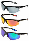 Eyelevel Crossfire Polarised Sports Sunglasses Red, Silver or Blue Tone Lenses