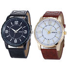 "Geneva Men""s Luxury Business Watch Leather Band Quartz Wrist Watches Cheap"