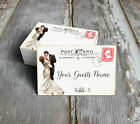 VINTAGE BRIDE & GROOM POSTCARD WEDDING PLACE CARDS, TAGS or ESCORT CARDS #188