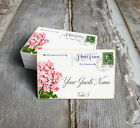 VINTAGE STYLE HYDRANGEA POSTCARD WEDDING PLACE CARDS, TAGS or ESCORT CARDS #540