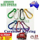 Carabiner Clip Key Ring Holder Chain Cable Hiking Hook Lock Camp Camping D Shape