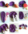 Sports Silicone Moulds Football Golf Badminton Skittles Rugby Cake Decorating