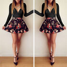 1PC Sexy Women Lady Long Sleeve Casual Casual Cocktail Short Slim Dress платье