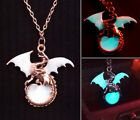 Glow in the Dark Dragon Punk Gothic Surrounding The Moon Necklace
