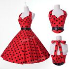 FREE P&P 1950'S SWING PINUP PARTY VINTAGE STYLE PROM DRESS PLUS SIZE